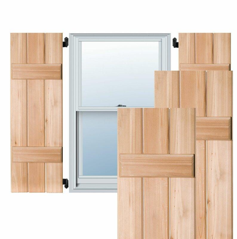 ekena millwork exterior 3 western cedar board n batten shutter