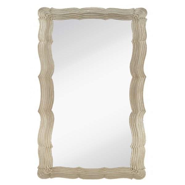Trendy Irregular shaped Modern Silver Frame Wall Mirror by Majestic Mirror