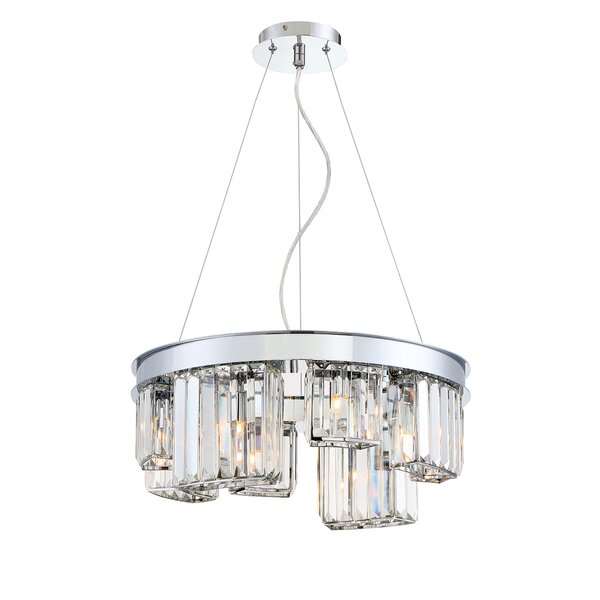 Lumino 8 - Light Unique / Statement Wagon Wheel Chandelier by Eurofase Eurofase