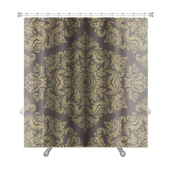 Primo Damask Pattern with Fine Traditional Oriental Ornaments Premium Shower Curtain by Gear New