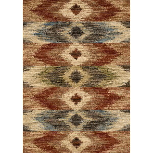 Aldham Rustic Diamonds Beige Area Rug by Bloomsbury Market