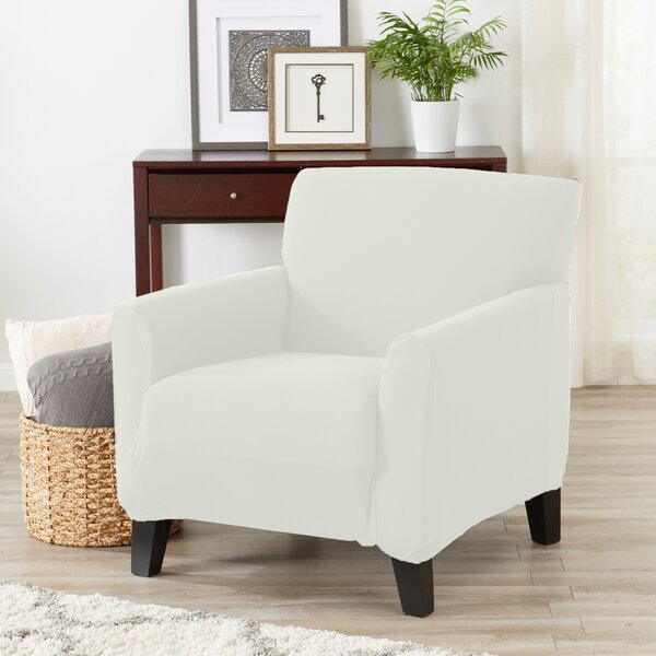 Super Soft Jersey Knit Box Cushion Armchair Slipcover By Winston Porter