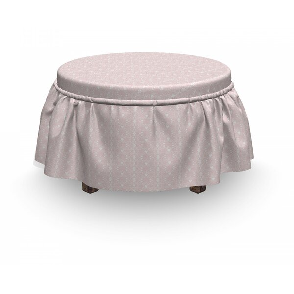 Victorian Girly 2 Piece Box Cushion Ottoman Slipcover Set By East Urban Home