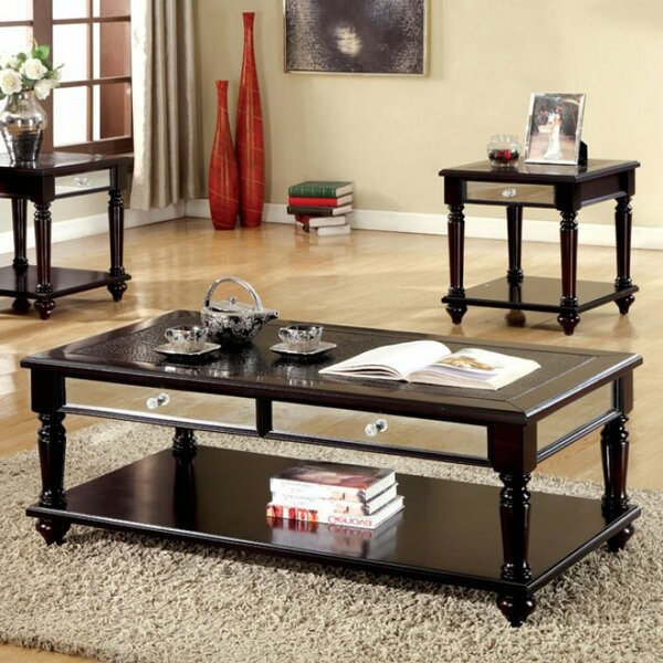 Barbery Contemporary 3 Piece Coffee Table Set by Canora Grey