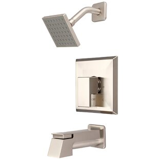 Affordable Mod Single Handle Diverter Tub and Shower Faucet with Trim By Pioneer