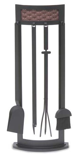 Basket Weave 5 Piece Steel Fireplace Tool Set by Pilgrim Hearth