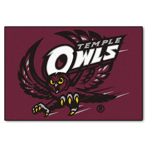 Collegiate Temple Starter Hand-Woven Burgundy Area Rug by FANMATS