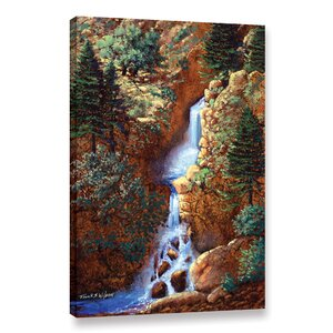 'Spring Cascade' Painting Print on Wrapped Canvas by Loon Peak