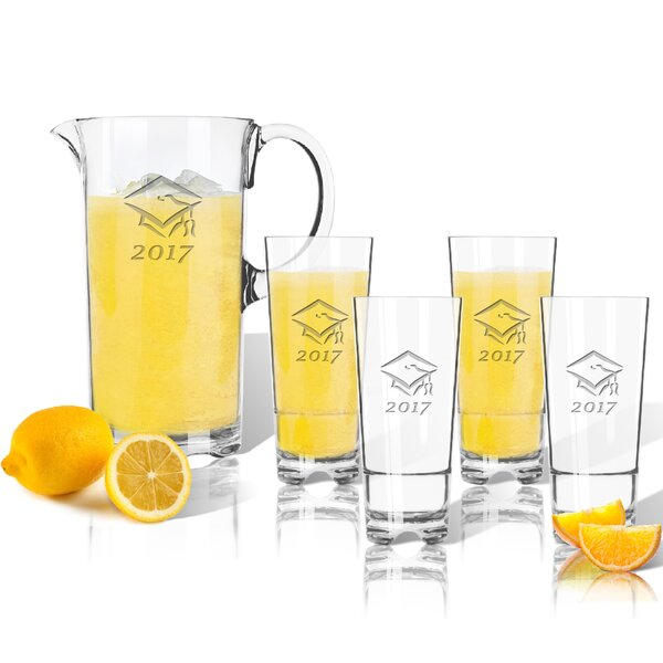 Orangeville Graduation 2017 5 Piece Beverage Serving Set by Red Barrel Studio