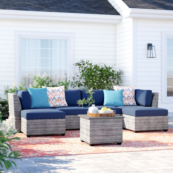 Kenwick 7 Piece Sectional Seating Group with Cushions by Sol 72 Outdoor
