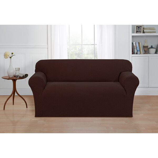 Box Cushion Loveseat Cover by Ebern Designs