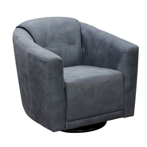 Minoru Fabric Upholstered Swivel Armchair by Latitude Run