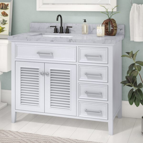 Hamil Left Offset 43 Single Bathroom Vanity Set with Mirror by Highland Dunes