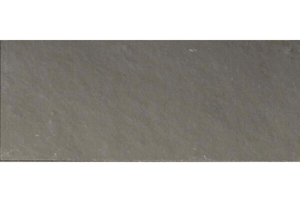 Pewter 3 x 8 Slate Field Tile in Gray by The Bella Collection