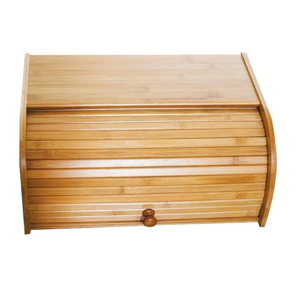 Bamboo Roll Top Bread Box by Lipper International