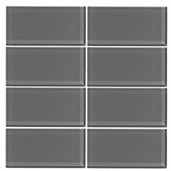 3 x 6 Glass Subway Tile in Taupe Gray by Vicci Design