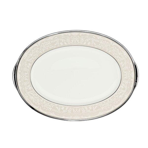 Silver Palace Platter by Noritake