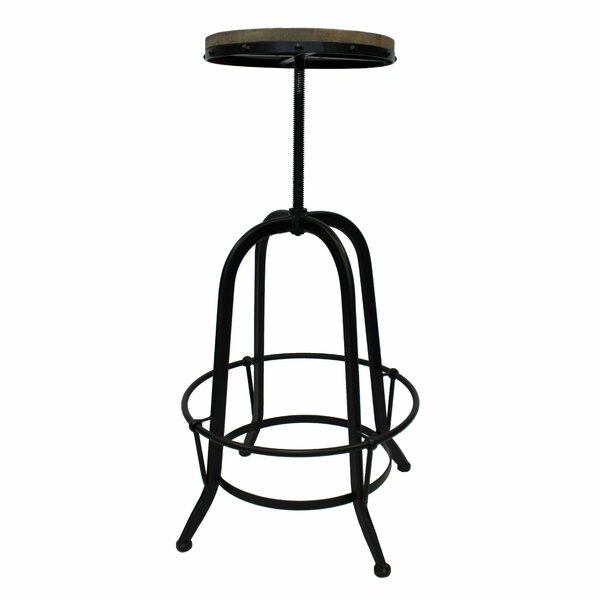 Maisie Adjustable Height Swivel Bar Stool by 17 Stories