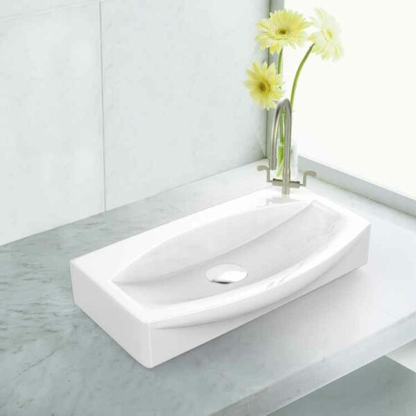 Ceramic Specialty Vessel Bathroom Sink with Faucet