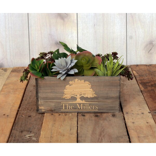 Mccutcheon Personalized Wood Planter Box by Winston Porter
