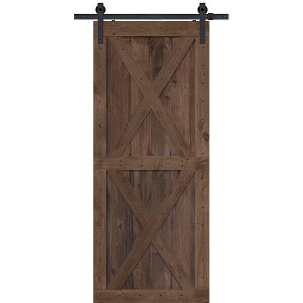 Double X Solid Wood Panelled Alder Interior Barn Door by Barndoorz