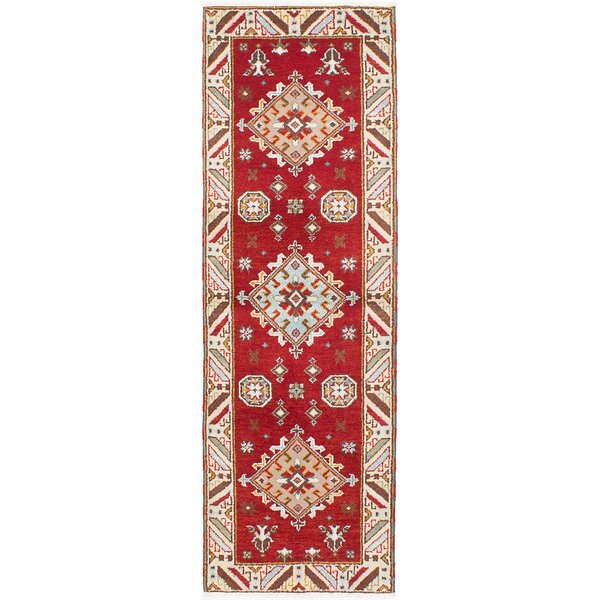 One-of-a-Kind Doering Hand-Knotted Cream/Red Area Rug by Isabelline