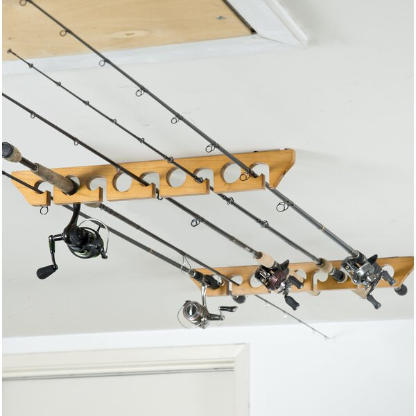 Wall/Ceiling Mounted Fishing Rack by Organized Fishing