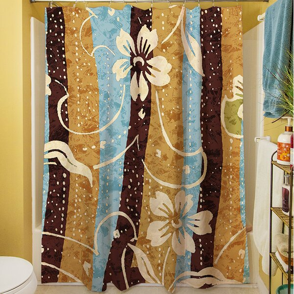 Floral Study in Stripes Shower Curtain by Manual Woodworkers & Weavers