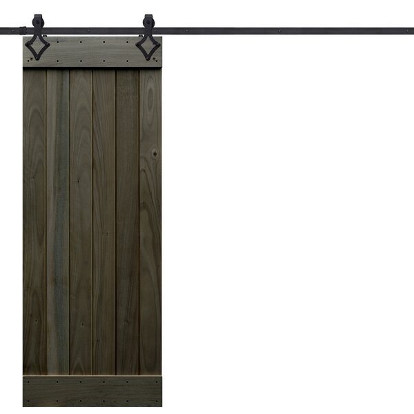 Rustic Plank Wood 1 Panel Interior Barn Doors by B
