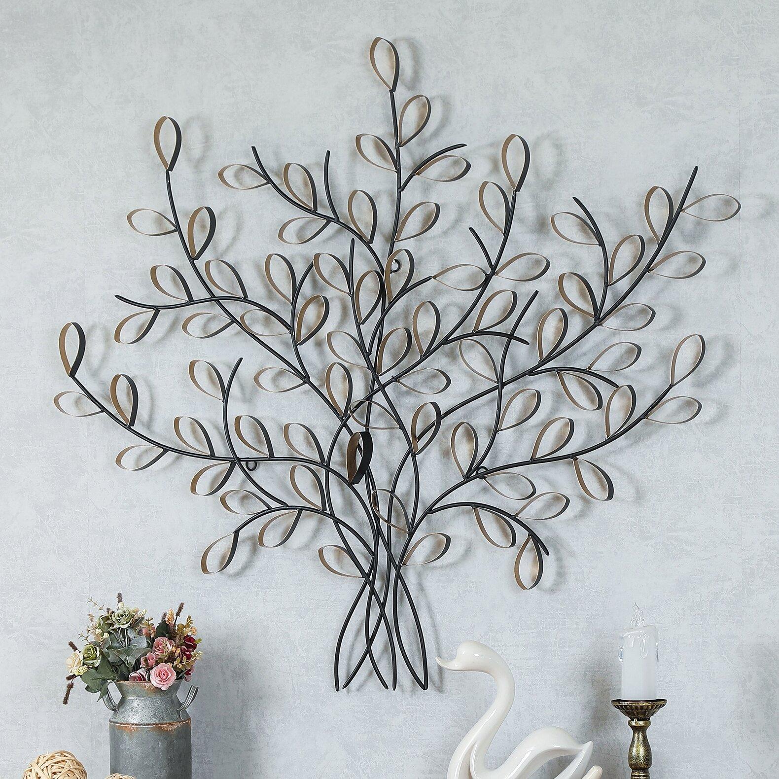 Canora Grey Iron Metal Tree Sculpture