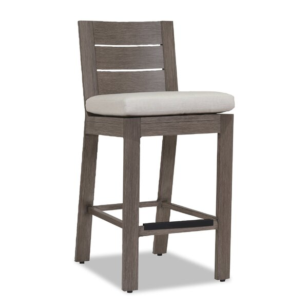 Laguna 40 Patio Bar Stool with Cushion by Sunset West