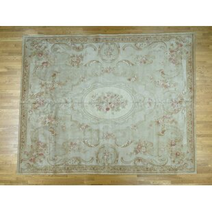 One Of A Kind Fullerton Design Thick And Plush Oversize Hand Knotted 12 X 15 Wool Ivory Area Rug