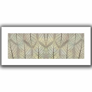 Leaf Design Cream' by Cora Niele Graphic Art on Rolled Canvas by ArtWall