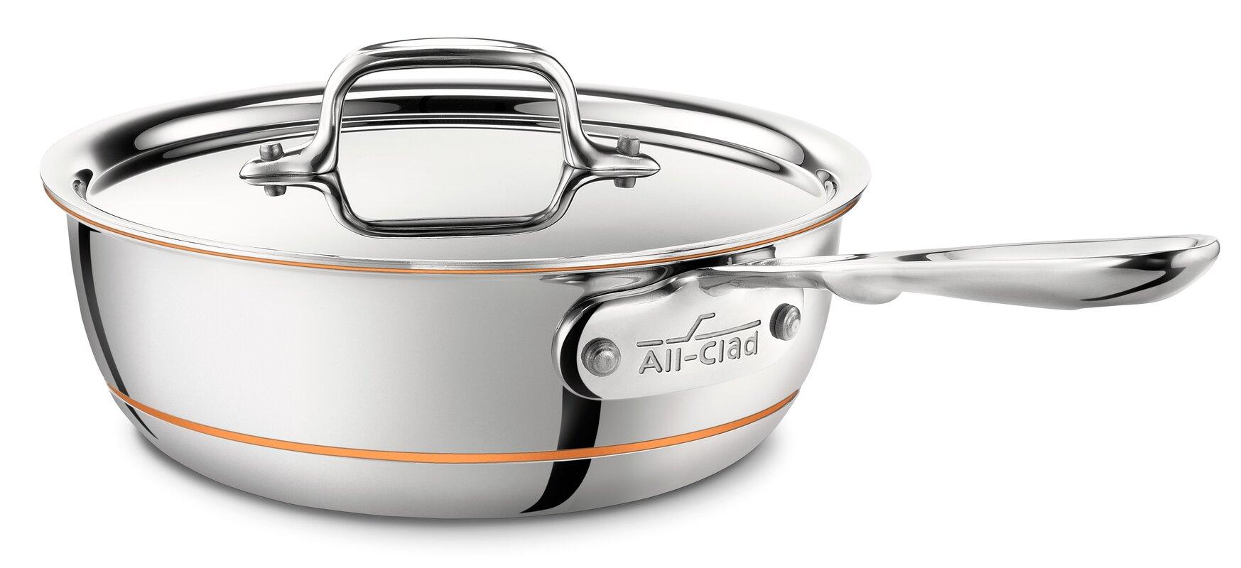 copper core 2qt saucier with lid