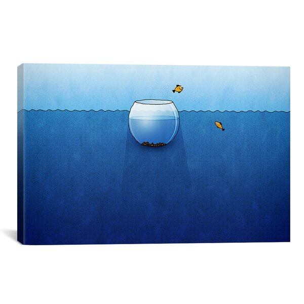 Kids Children Fishbowl in the Ocean Canvas Wall Art by iCanvas