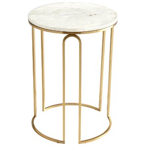 Metallic Tower End Table by Cyan Design