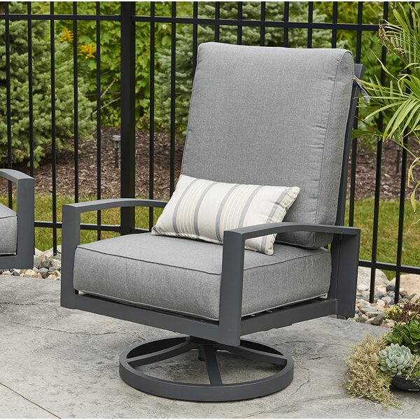 Lyndale High Back Patio Chair with Cushions (Set of 2) by The Outdoor GreatRoom Company