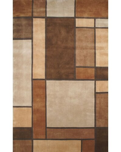 Casual Contemporary Beige / Brown Metro Area Rug by American Home Rug Co.