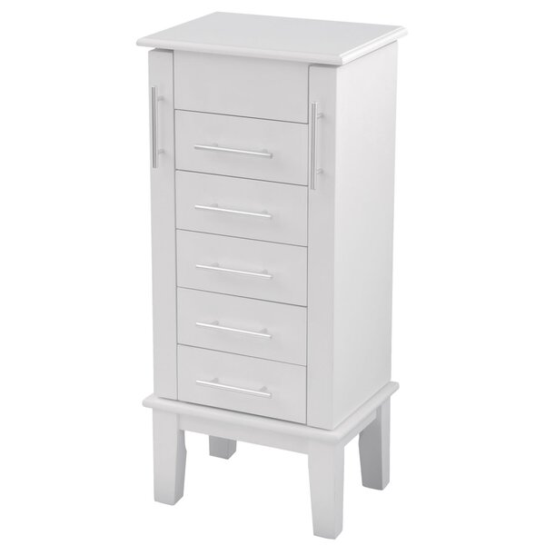 Bay Shore Cape Cod Jewelry Armoire with Mirror by Wildon Home ®