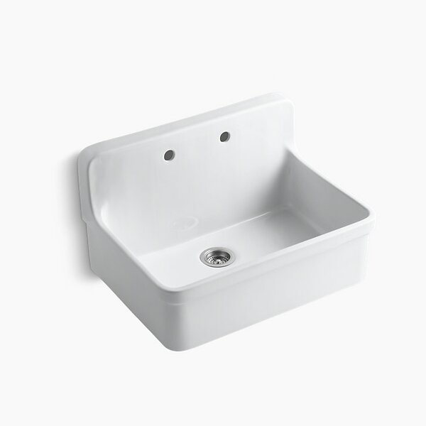 Gilford 30 x 22 x 9-1/2 Wall-Mount/Top-Mount Single-Bowl Kitchen Sink by Kohler