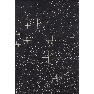 Searching for Roan Patterned Contemporary Wool Black/Ivory Area Rug By Latitude Run