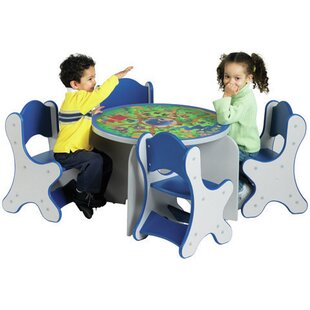 Safari Adventure Kids 5 Piece Table and Chair Set ByPlayscapes