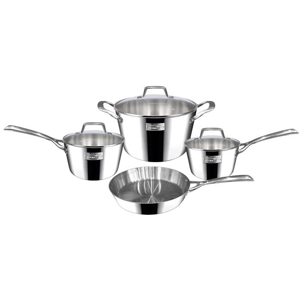 Berlin 7 Piece Dubai Stainless Steel Cookware Set by Fleischer and Wolf