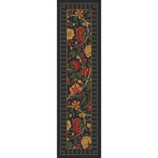 Budget Shryock Vachell Ebony Floral Runner By Astoria Grand