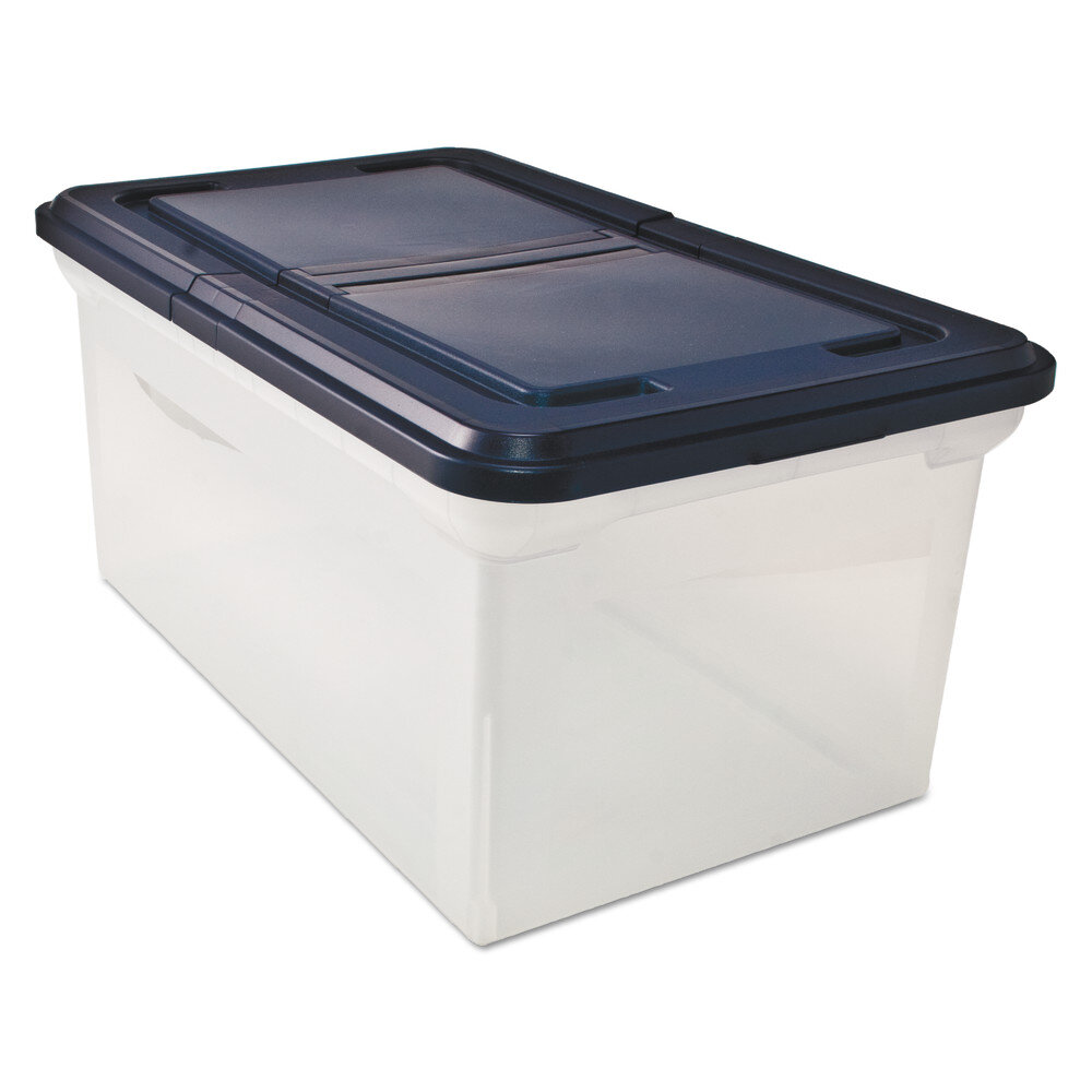 ADVANTUS CORPORATION Innovative Storage Designs File Tote Storage Box With  Lid , Letter, Plastic | Wayfair