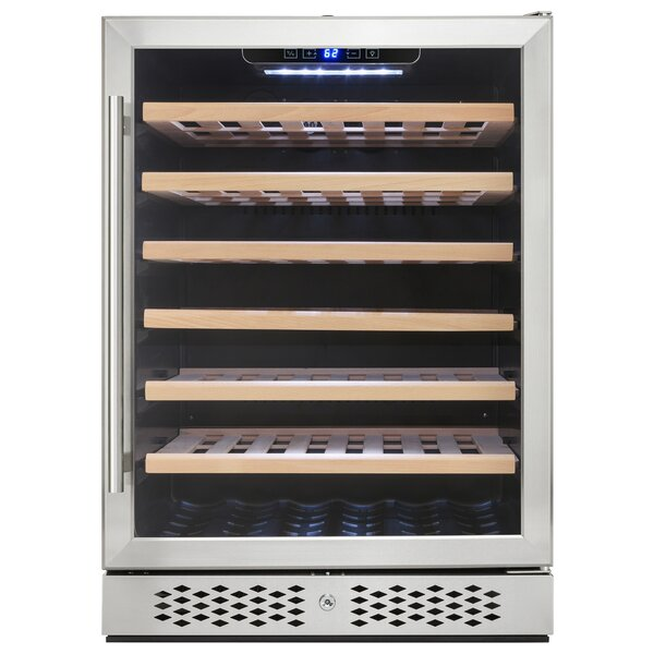 54 Bottle Single Zone Built-In Wine Cooler by AKDY
