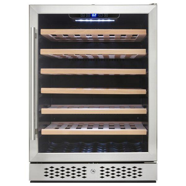 54 Bottle Single Zone Built-In Wine Cooler by AKDY