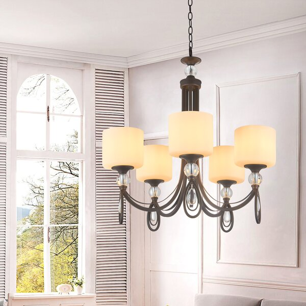 Reisman 5 - Light Shaded Classic / Traditional Chandelier by Canora Grey Canora Grey