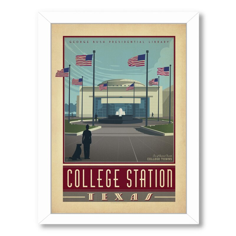 East Urban Home College Station Tx Framed Vintage Advertisement Wayfair