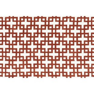 Best Price Dane Ivory / Rust Rug By Wrought Studio
